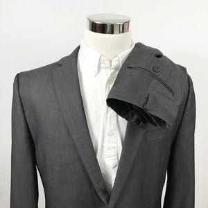 Calvin Klein Mens 42L Slim Fit Suit 36 x 31 Flat